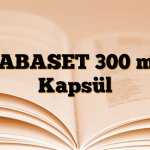 GABASET 300 mg Kapsül