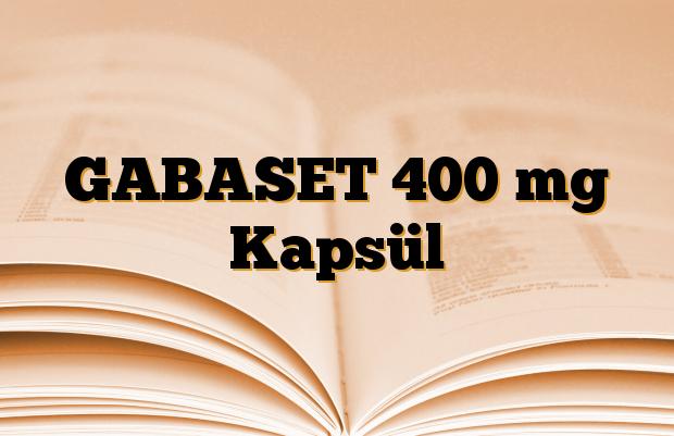 GABASET 400 mg Kapsül