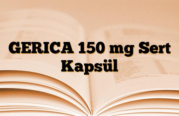 GERICA 150 mg Sert Kapsül