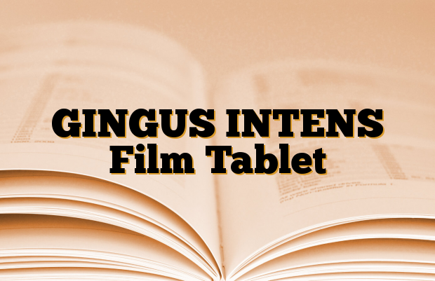 GINGUS INTENS Film Tablet