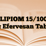 GLIPIOM 15/1000 mg Efervesan Tablet