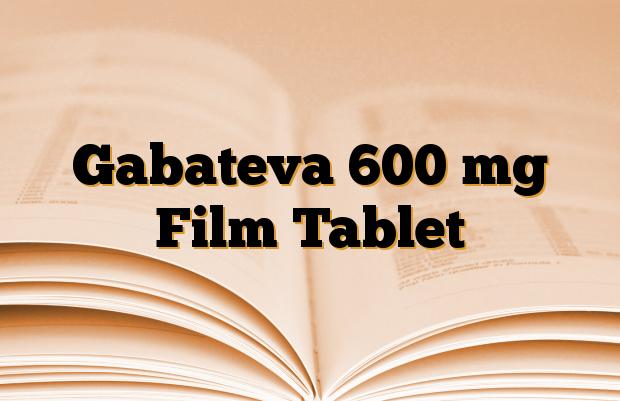 Gabateva 600 mg Film Tablet