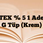 JETEX % 5 1 Adet 5 G Tüp (Krem)