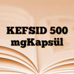 KEFSID 500 mgKapsül