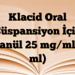 Klacid Oral Süspansiyon İçin Granül 25 mg/ml (5 ml)