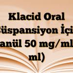 Klacid Oral Süspansiyon İçin Granül 50 mg/ml (5 ml)