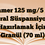 Klamer 125 mg/5 mg Oral Süspansiyon Hazırlamak İçin Granül (70 ml)