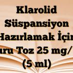 Klarolid Süspansiyon Hazırlamak İçin Kuru Toz 25 mg/ml (5 ml)