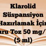 Klarolid Süspansiyon Hazırlamak İçin Kuru Toz 50 mg/ml (5 ml)