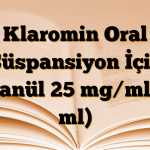 Klaromin Oral Süspansiyon İçin Granül 25 mg/ml (5 ml)