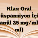 Klax Oral Süspansiyon İçin Granül 25 mg/ml (5 ml)