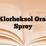 Klorheksol Oral Sprey