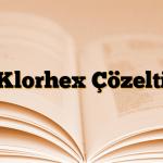 Klorhex Çözelti