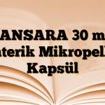 LANSARA 30 mg Enterik Mikropellet Kapsül
