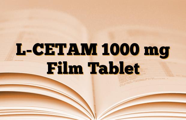 L-CETAM 1000 mg Film Tablet