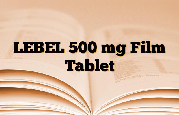 LEBEL 500 mg Film Tablet
