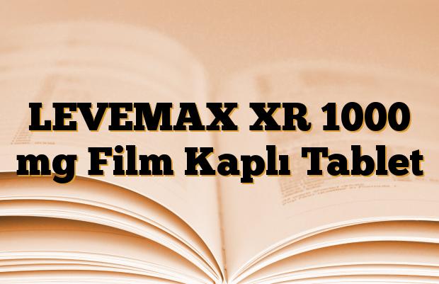LEVEMAX XR 1000 mg Film Kaplı Tablet