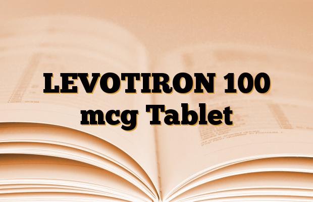 LEVOTIRON 100 mcg Tablet