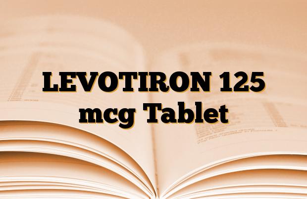 LEVOTIRON 125 mcg Tablet