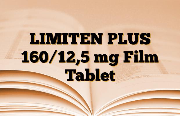 LIMITEN PLUS 160/12,5 mg Film Tablet