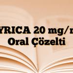 LYRICA 20 mg/ml Oral Çözelti
