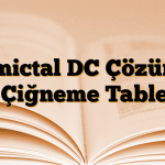 Lamictal DC Çözünür / Çiğneme Tableti