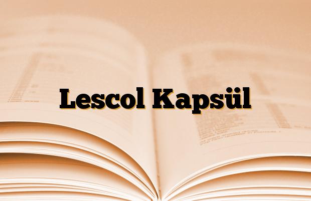 Lescol Kapsül