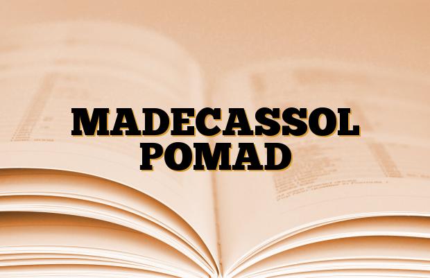 MADECASSOL POMAD
