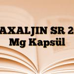 MAXALJIN SR 200 Mg Kapsül