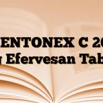 MENTONEX C 200 mg Efervesan Tablet