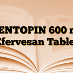 MENTOPIN 600 mg Efervesan Tablet