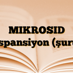 MIKROSID Süspansiyon (şurup)