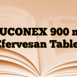 MUCONEX 900 mg Efervesan Tablet