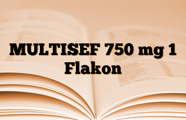 MULTISEF 750 mg 1 Flakon