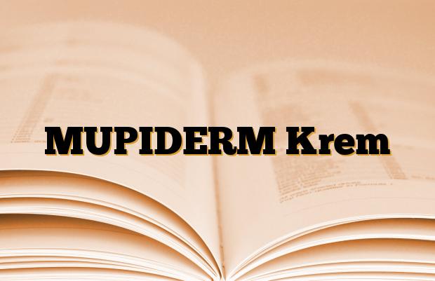 MUPIDERM Krem