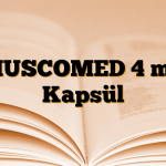 MUSCOMED 4 mg Kapsül