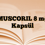 MUSCORIL 8 mg Kapsül