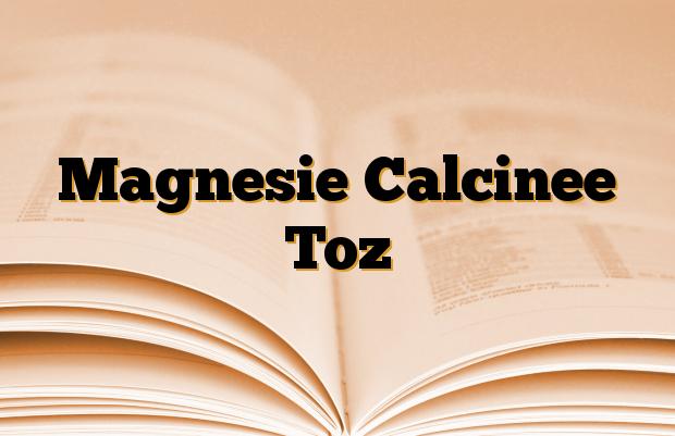 Magnesie Calcinee Toz