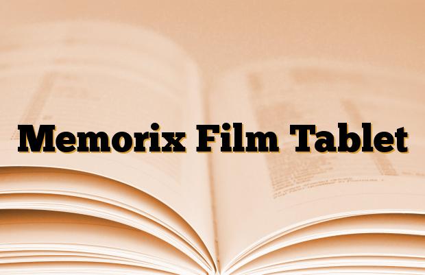 Memorix Film Tablet