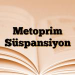 Metoprim Süspansiyon