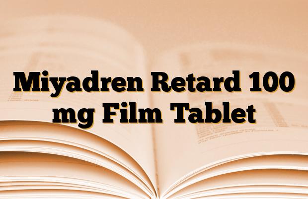Miyadren Retard 100 mg Film Tablet