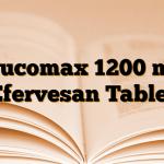 Mucomax 1200 mg Efervesan Tablet