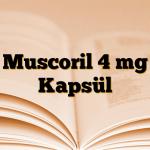 Muscoril 4 mg Kapsül