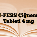 N-FESS Çiğneme Tableti 4 mg