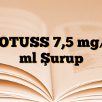 NOTUSS 7,5 mg/5 ml Şurup