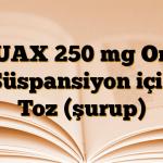 NUAX 250 mg Oral Süspansiyon için Toz (şurup)