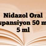 Nidazol Oral Süspansiyon 50 mg / 5 ml