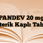 PANDEV 20 mg Enterik Kaplı Tablet