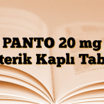 PANTO 20 mg Enterik Kaplı Tablet