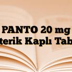 PANTO 20 mg Enterik Kaplı Tablet